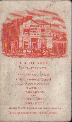 A later example, c. 1871, showing the address as 1 & 2 Victoria Street. © K. Morris.