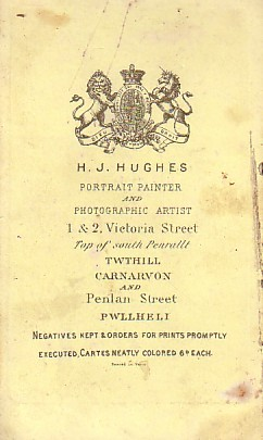 A contemporary example of the red print card. Dates to c.1873. © C. Davies.